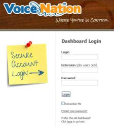 VoiceNation Online Dashboard